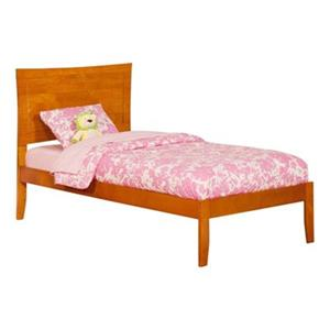 Atlantic Furniture Metro Twin XL Platform Bed with Open Foot Board in Caramel