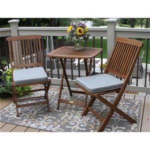 Outdoor Interiors 3-Piece Square Outdoor Bistro Set,S60040GR