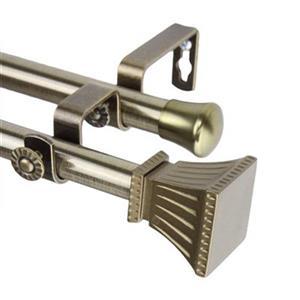 Rod Desyne Trumpet Double Curtain Rod,4701-994