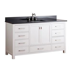 """Modero Bathroom Vanity with Countertop - 60"""" - White"""