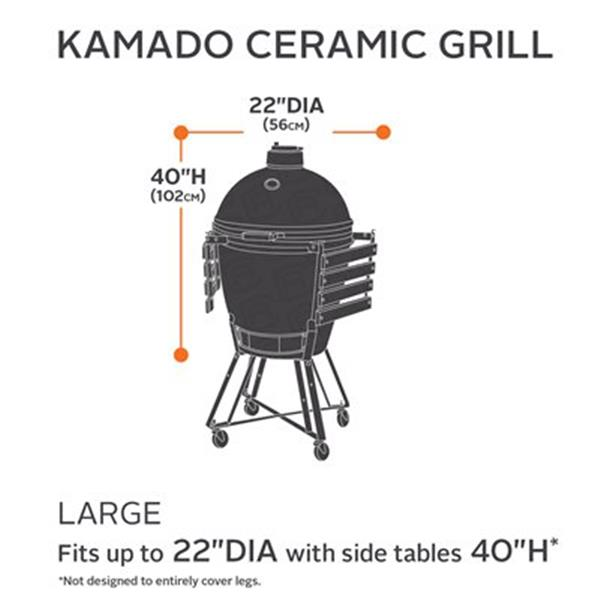 Classic Accessories 55-21 Hickory Kamado Ceramic Grill Cover