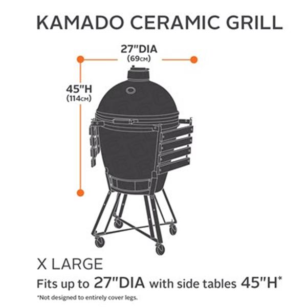 Classic Accessories 55-21 Hickory Kamado Ceramic Grill Cover