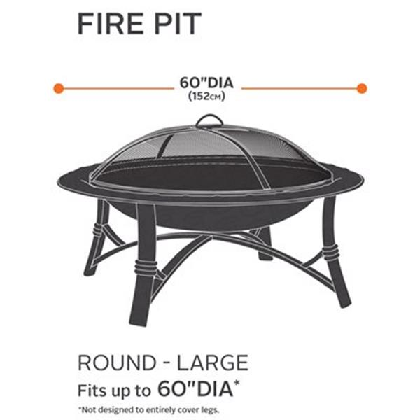 Classic Accessories 55-14 Ravenna Round Fire Pit Cover,55-14