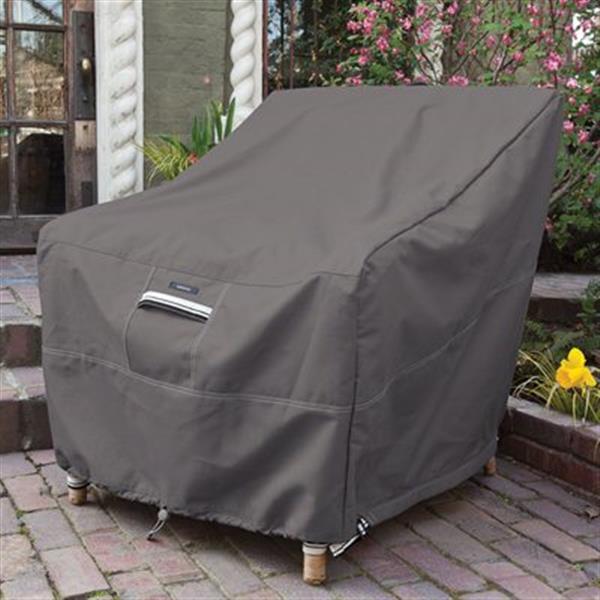 Housse de protection pour chaise extérieure, taille unique, gris
