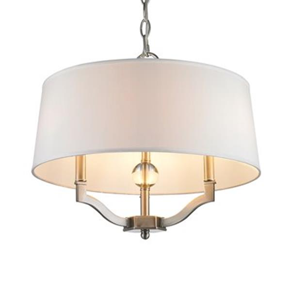 Golden Lighting 3500-SF Waverly 3500-SF 3 Light Semi Flush/P