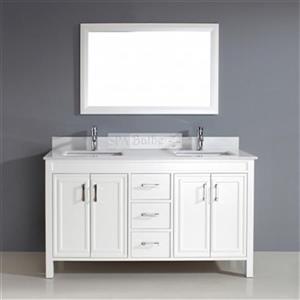Spa Bathe Cora 60-in Double Vanity,CO60WHT-SSC