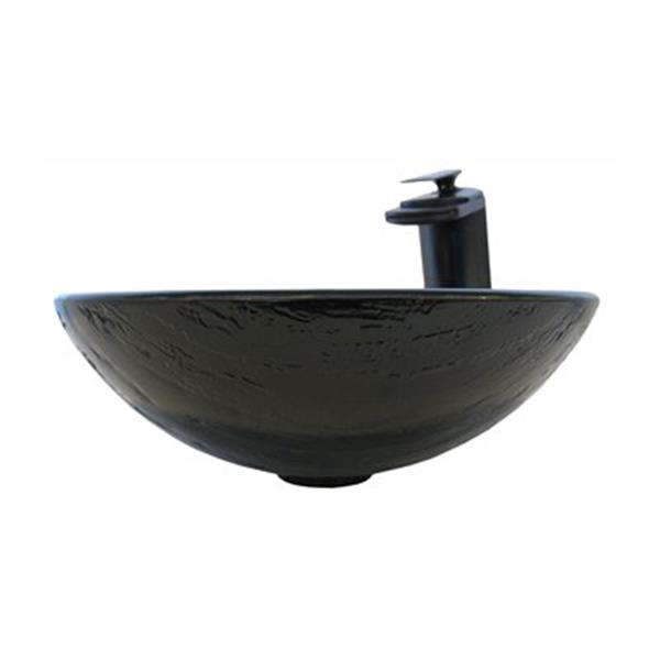 Novatto Mimetica Glass Vessel Sink Set,NSFC-025057ORB