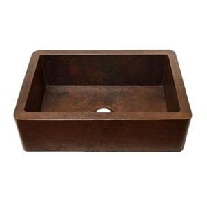 Novatto Farmhouse Copper Kitchen Sink,TCK-001AN