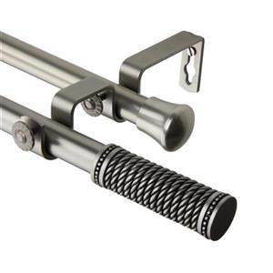Rod Desyne Threaded Double Curtain Rod,4711-995