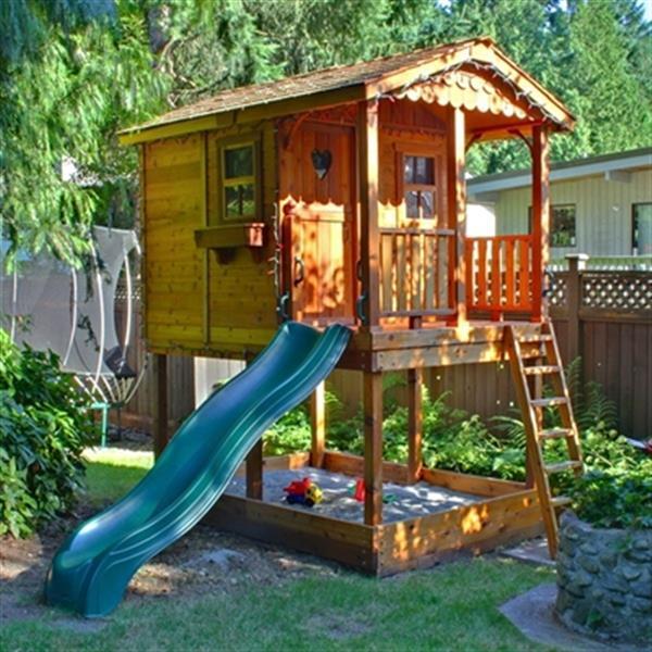 Outdoor Living Today Maisonnette pour enfants en cèdre Outdoor Living Today 6-pi x 9-pi SP69SBOX SP69SBOX