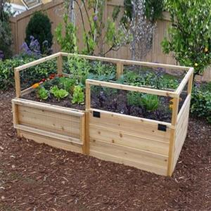 Jardin extérieur en cèdre surélevé RB63 de 6 pi x 3 pi Outdoor Living