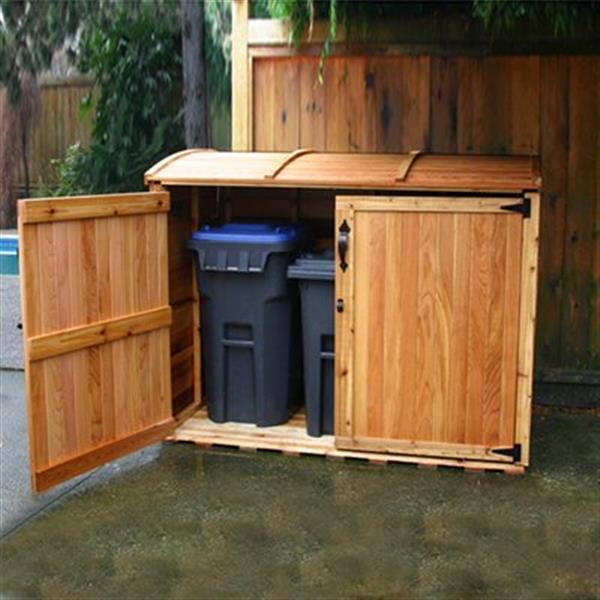 Outdoor Living Today Remise de rangement horizontal pour déchets, 6' x 3', cèdre rouge OSCAR63