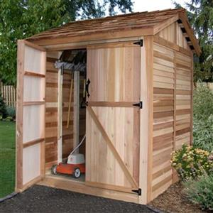 Outdoor Living Today Maximizer Storage Shed- 6' x 6' - Cedar