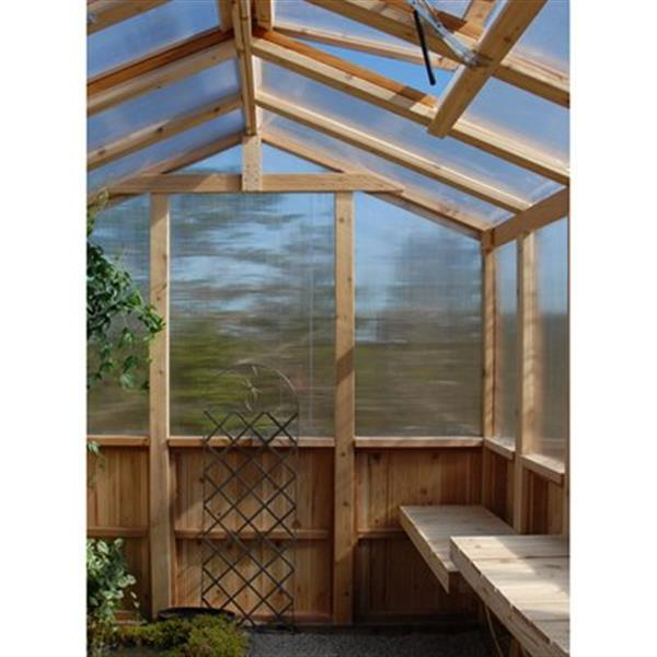 Outdoor Living Today 8-ft x 8-ft Cedar Greenhouse,CGH88