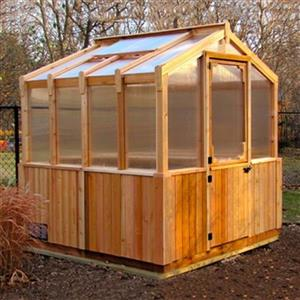 Outdoor Living Today 8-ft x 8-ft Cedar Greenhouse,CGH88