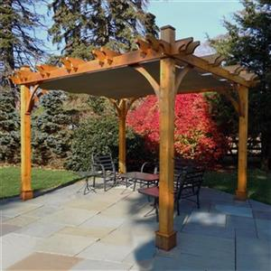 Pergola en cèdre Breeze Outdoor Living Today BZ1012WRC 10' x 12'