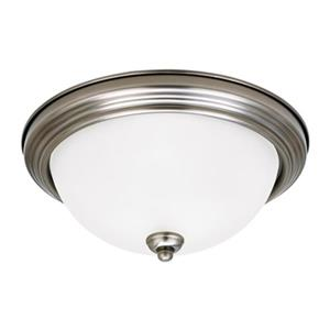 Sea Gull Lighting 3-Light Fluorescent Flush Mount Ceiling