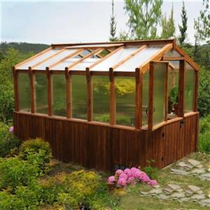 Outdoor Living Today 8-ft x 12-ft Cedar Greenhouse,CGH812