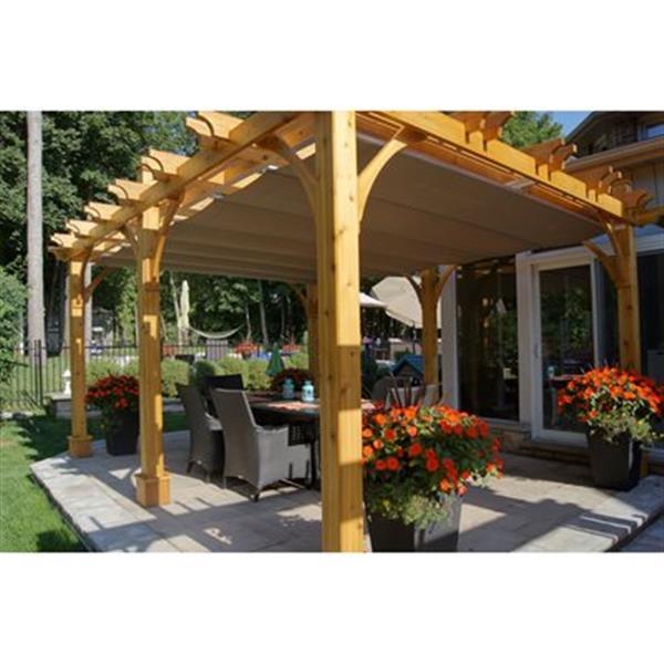 Outdoor Living Today Pergola Breeze d'Outdoor Living Today, 12'x16', cèdre, beige BZ1216WRC