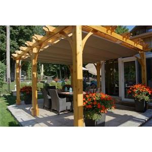 Pergola Breeze d'Outdoor Living Today, 12'x16', cèdre, beige