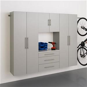 Prepac Furniture HangUps Set G 90-in 4-Piece Storage Cabinet