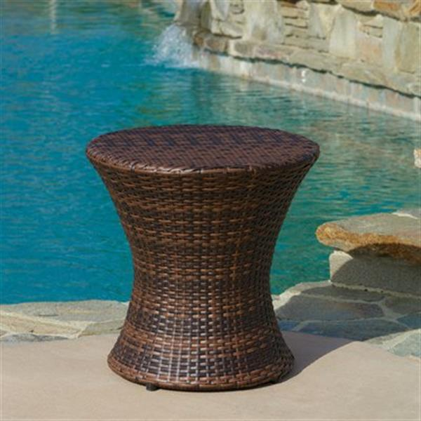 Best Selling Home Decor Adriana Outdoor Wicker Accent Table,