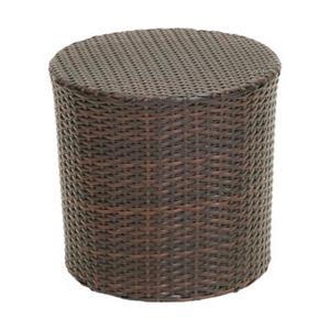 Best Selling Home Decor Keaton Outdoor Wicker Barrel Side Ta