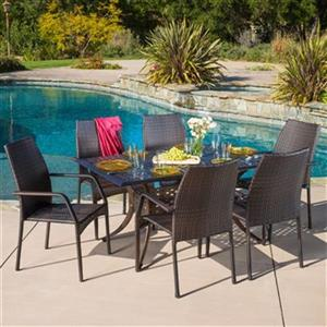 Best Selling Home Decor Libson 7-Piece Outdoor Dining Set,29