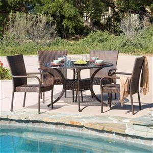 Best Selling Home Decor Littleton 5-Piece Round Outdoor Dini