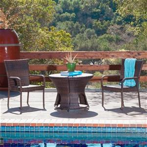 Best Selling Home Decor Rodolfo 3-Piece Outdoor Dining Set,2