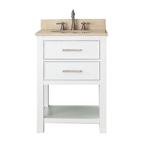 Avanity Brooks 24-in Bathroom Vanity Combo,BROOKS-VS24-WT-B