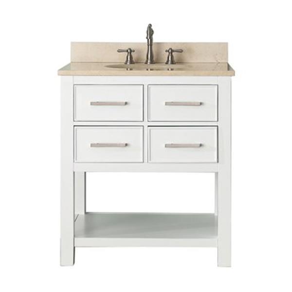 Avanity 30-in Brooks Bathroom Vanity Combo,BROOKS-VS30-WT-B
