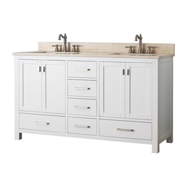 Avanity Modero 60-in Double Bathroom Vanity Combo,MODERO-VS6