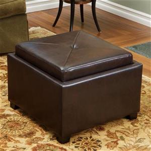 Best Selling Home Decor Andrea Tray Top Storage Ottoman,2360