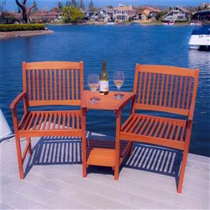 Best Selling Home Decor Carolina Wooden Adjoining Chairs,237