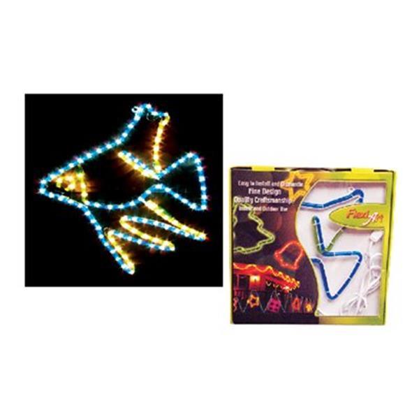 Wide Loyal FA-LF-12x10 Flexi Art Rope Light Angel Fish - Set