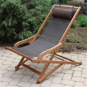 Outdoor Interiors SL10060 Sling Swing Lounger with Brown Pil