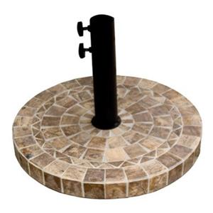 Outdoor Interiors 46950BM Stone and the Hardwoods Brown Marb