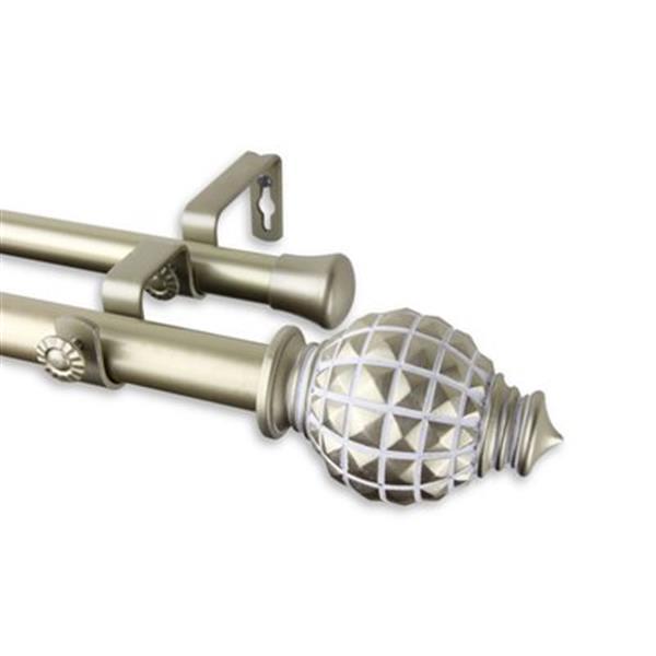 Rod Desyne Opal Double Curtain Rod,100-66-993-D