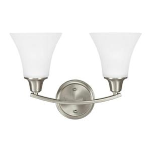 Sea Gull Lighting Metcalf 2 Light Bathroom Sconce