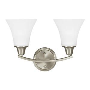 Sea Gull Lighting Metcalf Fluorescent 2 Light Bathroom