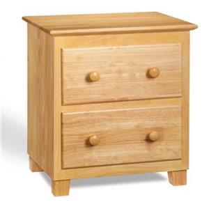 Atlantic Furniture Atlantic 2-Drawer Nightstand,C-68205
