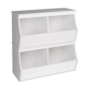 Prepac Monterey Stacked 2-Bin Storage Cubby (Set of 2),WRSD-