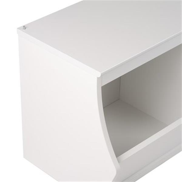Prepac Monterey Stacked 3-Bin Storage Cubby (Set of 2),WRSM-