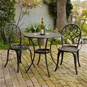 Best Selling Home Decor Angeles 3-Piece Outdoor Bistro Set w