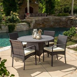 Best Selling Home Decor Coronado 5-Piece Round Outdoor Wicke