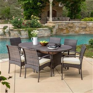 Best Selling Home Decor Coronado 7-Piece Oval Outdoor Wicker