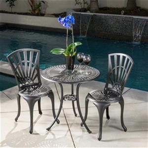 Best Selling Home Decor Florida 3-Piece Outdoor Bistro Set,2