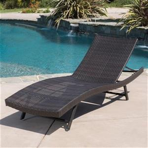Best Selling Home Decor 295529 Kauai Wicker Chaise Lounge,29
