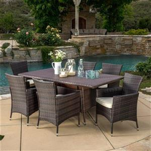 Best Selling Home Decor Mason 7-Piece Outdoor Wicker Dining